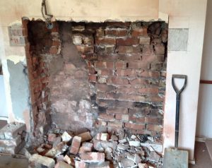 Brick Built Fireplace in Preston