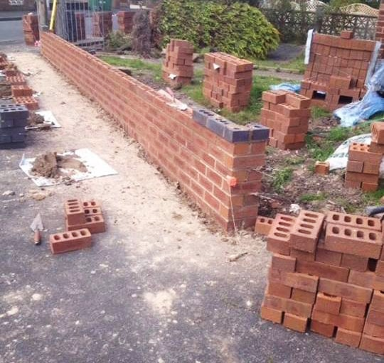 Garden Wall Building Fulwood